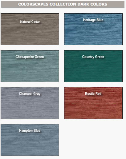 for Siding styles and colors